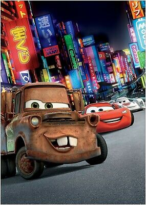 Cars Lightning McQueen Movie Large Poster or Canvas Art Print Maxi A1 A2 A3 A4