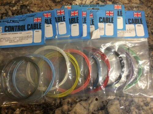 Retro Plastic covered Gear cable  inner wire NOS genuine 90s Various colours