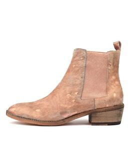 10cf252d64 Details about New Mollini Zallas Cafe Rose Gold Womens Shoes Casual Boots  Ankle