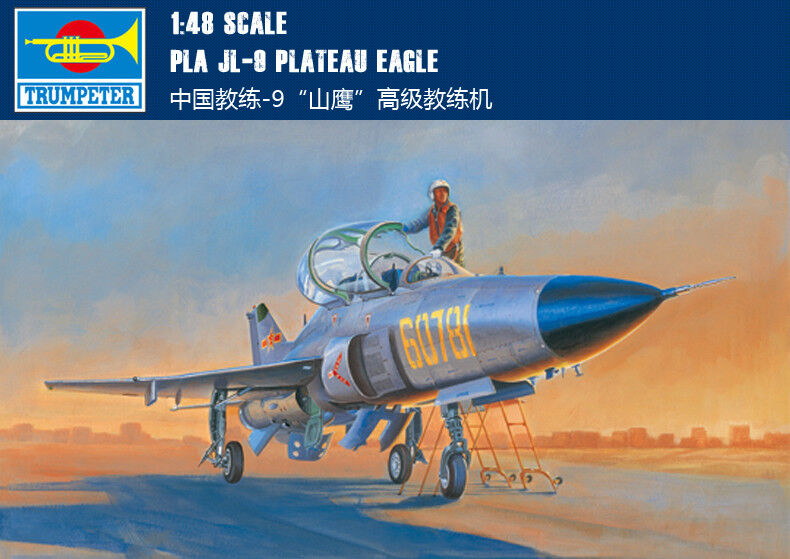 02879 Trumpeter PLA JL-9 Plateau Eagle Training Plane Static 1 48 Model