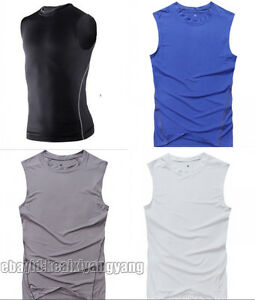 535de435caeba Details about Men's Sleeveless Basketball SPORT Dri-Fit Workout Running  T-SHIRT TIGHTS S1002