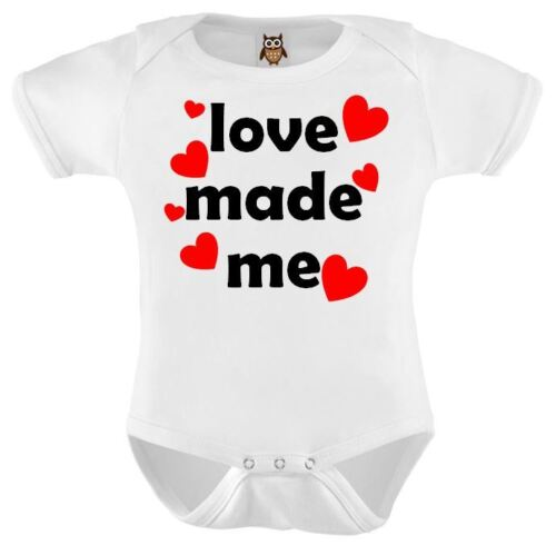 Baby Vest Love Made Me Funny Cute Valentines Baby Bodysuit Cute Valentines Gift