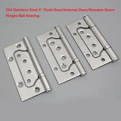 "4/"" STAINLESS STEEL BALL BEARING GRADE 13 1 HR FIRE TESTED BLACK DOOR BUTT HINGES"