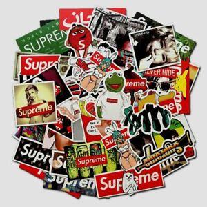 100PCS Stickers Bomb Vinyl Skateboard Guitar Luggage Pack Tide Brand Logo Decals
