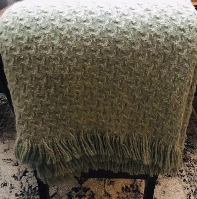 Vintage Pendleton 100% Virgin Wool Throw Stadium Blanket 61x46 2