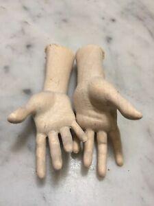 Un-Paio-Di-Mani-Legno-Figura-donna-adatte-per-statue-6-cm