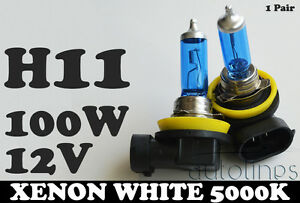 H11-12V-100W-Xenon-White-5000k-Halogen-Car-Headlight-Lamp-Globes-Bulbs-LED-HID