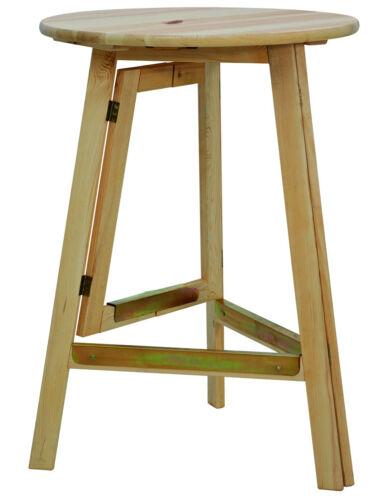 FUN STAR Stehtisch 78cm kompl.Holz Gestell klap Holz