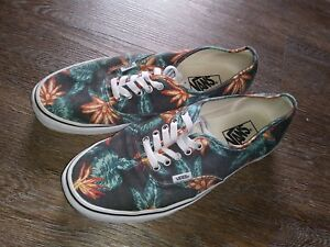 eab5e802a1 Vans Authentic Vintage Aloha Black True White VN-018BGXN Mens Size ...