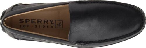 in Black Leather Men's Shoes NEW Sperry Top-Sider Hampden Venetian Loafers