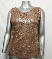 Mssp Top Size L Formal Sequin Retail $78.00