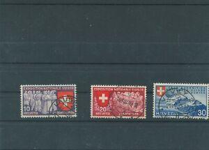 Suisse-Suisse-Vintage-1939-Mi-338-340-Timbres-Used-Plus-Sh-Boutique