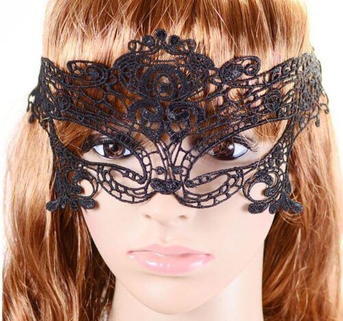 Gothic Maske Halloween spitze schwarz B034