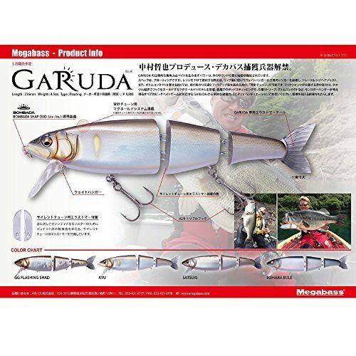 Megabass Lure GARUDA Ikehara blu 37344 FS from JAPAN