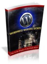 Wordpress Website Secrets Ebook On CD $5.95 Plus Resale Rights Free Shipping