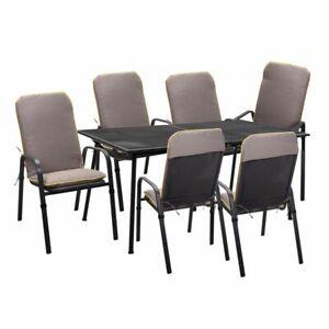 Tavolo Allungabile Con 6 Sedie.Dettagli Su Tavolo Allungabile Con 6 Sedie Per Esterno Giardino Metallo Terrazzo Tavoli