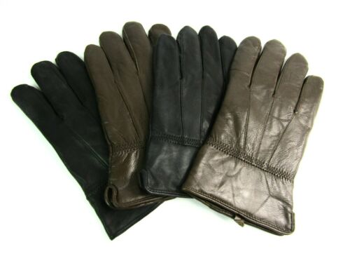 Mens Genuine Super Soft Quality Leather Driving Everyday Gloves Fully Lined