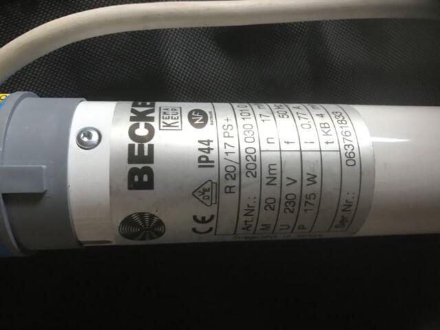 Rohrmotor für Markise und Rolladen Becker Motor - R20 17PS+