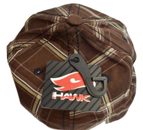Tony Hawk Boys Youth Skull /& Crossbones Brown Plaid Hat Cap NWT New