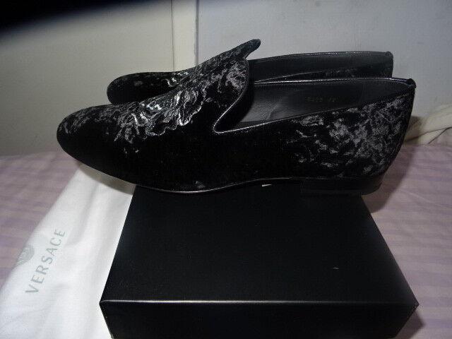 Da Uomo Versace Made Made Made in  nero Velet ricamato Medusa Mocassini Scarpe RRP -   Bello e affascinante    Gentiluomo/Signora Scarpa  835048
