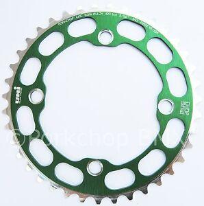 Porkchop BMX single speed bicycle Chop Saw I Chainring 39T 4 bolt 104 bcd SILVER