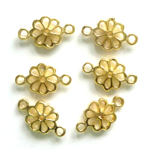 20 Gold Plated Flower Link Connectors 10x7MM Findings