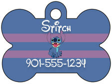 Disney Lilo & Stitch Dog Tag Pet ID Tag Personalized w/ Your Pet's Name & Number