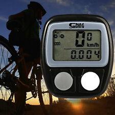 Bicycle Bike Cycling Computer LCD Odometer Speedometer Stopwatch Speed meter New