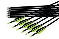 12pk 32'' Fiberglass Arrows Fletched For Archery Recurve Bow Targeting Hunting