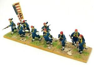 Perry-Miniatures-ACW-Zouaves-28mm-Infantry-Models-Unit-Bundle-Painted-amp-Based