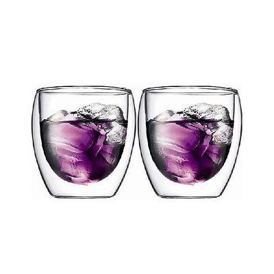 NEW Bodum Pavina Double Wall Latte Glasses, Set of 2, 250ml White