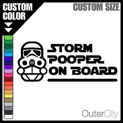 "Star Wars STORM POOPER Sticker Stormtrooper 4/"" x 4/"""