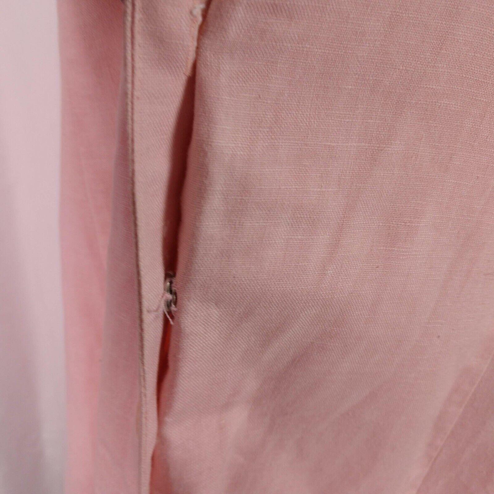 Vintage Laura Ashley Linen Eyelet Dress Size 14 P… - image 8