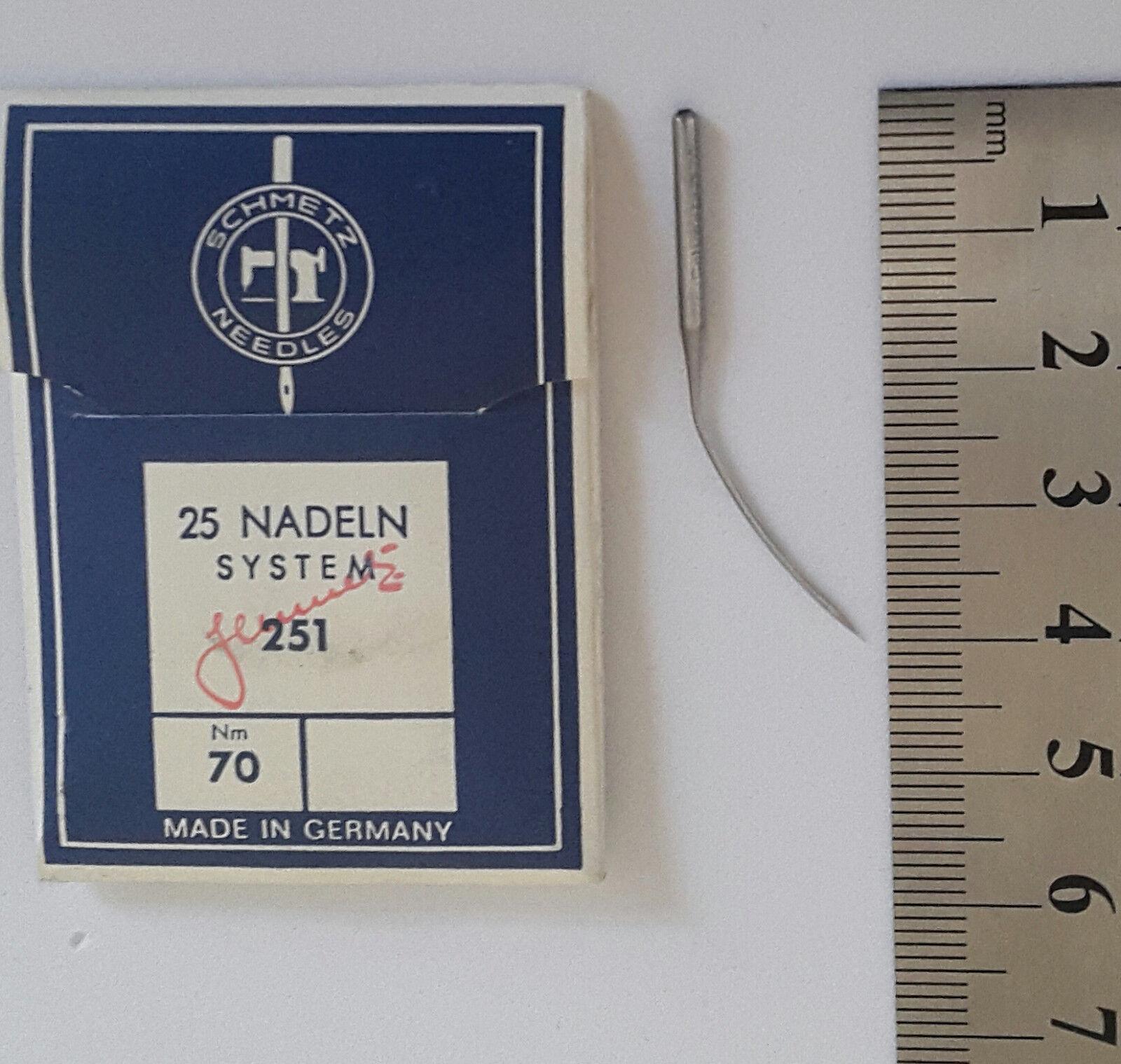 rund 39:70 25 Stück Industrienadeln Nähmaschinennadeln Schmetz 251 LWx3T NM 90