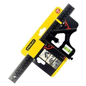 12in - 2-46-222 Combination Metal Square 300mm Stanley Tools