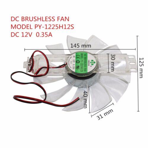 Poultry Brushless Incubator Fan Exhaust Dc 12v 0 35a 145x125 Mm Tgb