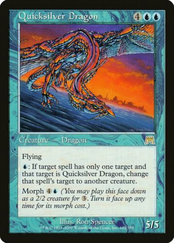 Quicksilver Dragon Onslaught NM-M Blue Rare MAGIC THE GATHERING CARD ABUGames