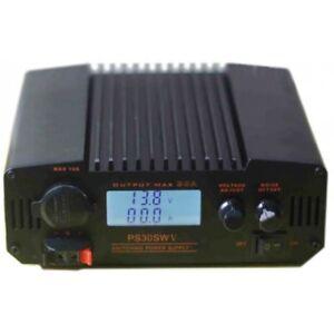 CB-HAM-RADIO-SWITCHING-POWER-SUPPLY-LCD-PS30SWV-30AMP-9-15V-13-8VDC
