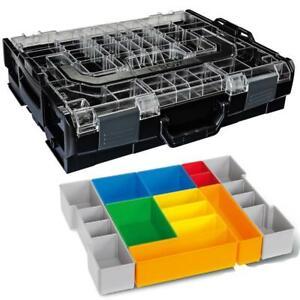 Sortimo Systemkoffer L-Boxx 102 schwarz mit transparentem Deckel + Insetboxen H3