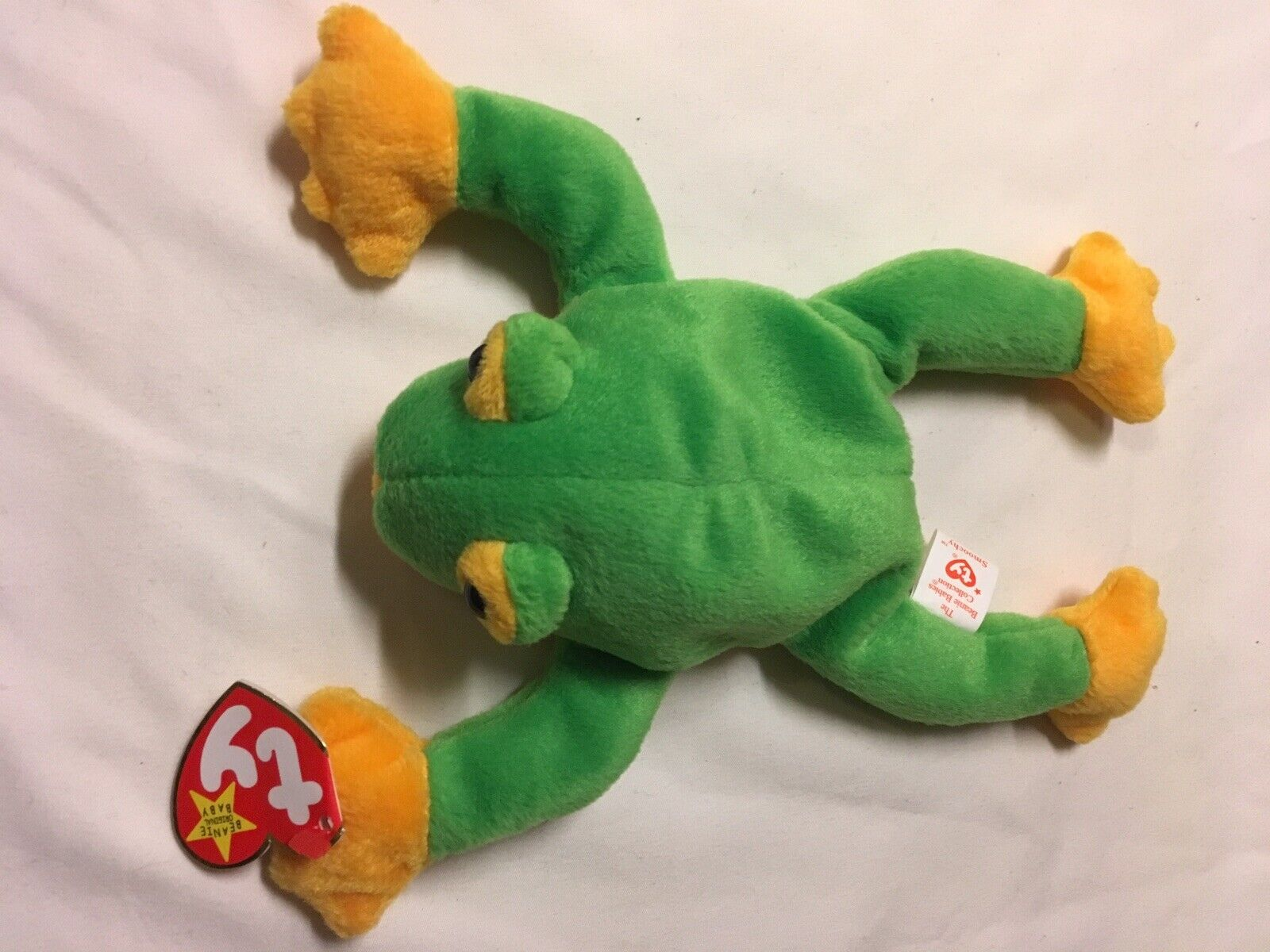 Ty Beanie Baby 'Smoochy' The Frog (Retired (Retired (Retired 1997) Tag Errors Perfect Condition 9b7a15