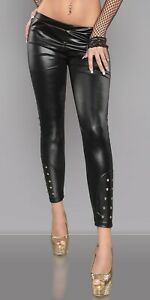 SEXY-KOUCLA-LEATHER-LOOK-BIKER-LEGGINGS-WITH-STUDS-L-XL