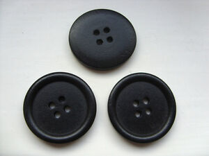 10-pcs-Large-Black-Wood-Scrapbooking-Sewing-Buttons-30mm
