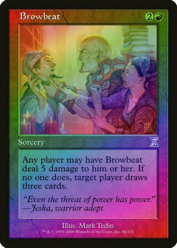 Browbeat FOIL Time Spiral Timeshifted NM-M Red Special MAGIC MTG CARD ABUGames