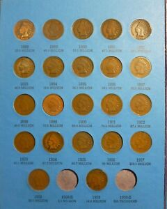 1859-1909-Indian-Head-Penny-Cent-Collection-Page-3-Whitman-NO-FOLDER