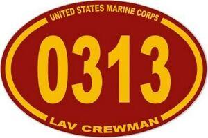 3-X-4-5-UNITED-STATES-MARINE-CORPS-USMC-0313-LAV-CREWMAN-OVAL-EURO-STICKER