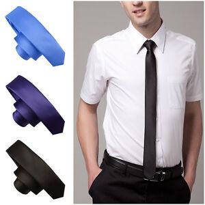 21-Colors-Mens-Classic-Solid-Plain-Slim-Skinny-Tie-Necktie-Wedding-Cocktail-New