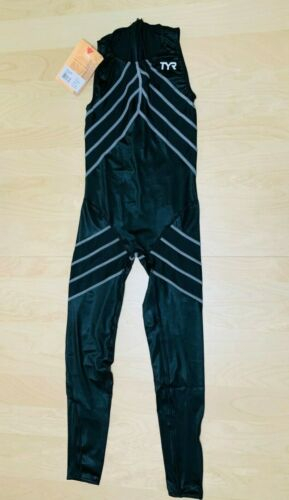 RARE TYR Aquapel Swimskin Competition Speedsuit Swimsuit Full Body Mens  32  NEW
