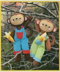 PATTERN-Monkey-Business-fun-toy-PATTERN-Two-Brown-Birds