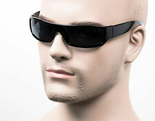 Slim Cholo Wrap Sunglasses Polarized Gray OG LOC Gangster Style Black SH 555 PL