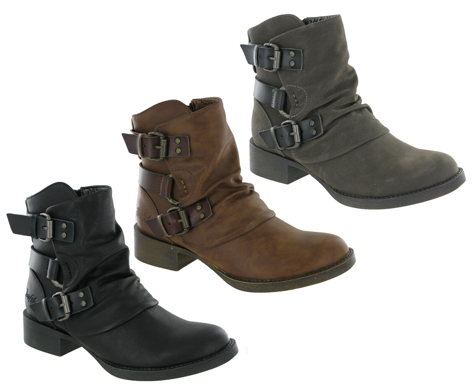 Blowfish Malibu Korrekt Ankle Biker Boots Boots Boots Buckle Detail Zip Up Fashion shoes 699c94